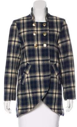 Steven Alan Plaid Wool Coat