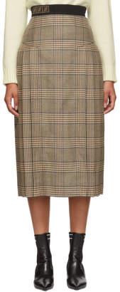 Fendi Multicolor Forever Plaid Skirt
