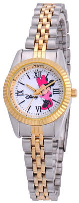 EWatchFactory Disney Minnie Mouse Women Two Tone Silver and Gold Alloy Watch