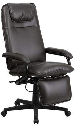 "Offex High Back 25"" Leather Drafting Chair"