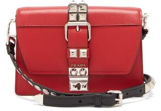 Prada Elektra Leather Cross Body Bag - Womens - Red