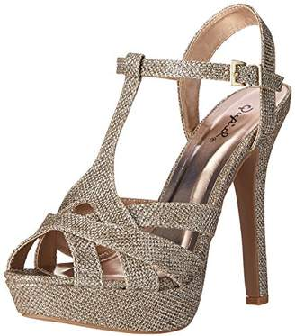 Qupid Women's GAZE-445 Platform Dress Sandal