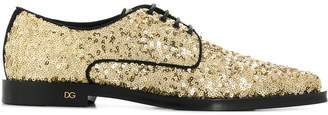 Dolce & Gabbana sequin-embellished lace-up shoes