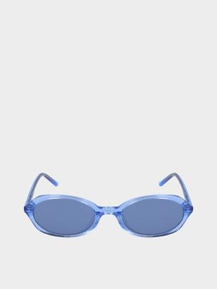 DKNY Oval Sunglasses With Tonal Lenses