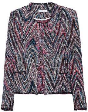 IRO Frayed Cotton-Blend Tweed-Jacquard Jacket