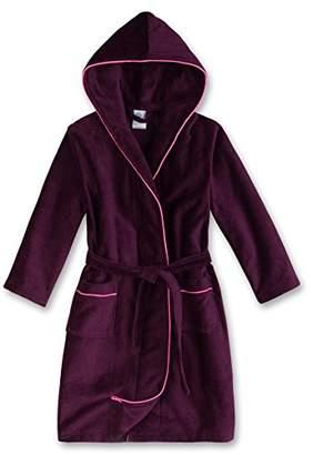 Sanetta Girl's 243816 Dressing Gown, (Dark Purple 6140)