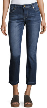 Kut from the Kloth Reese Straight-Leg Ankle Jeans, Blue $59 thestylecure.com