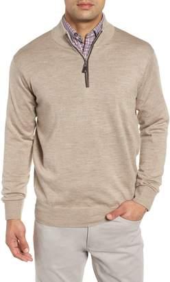 Peter Millar Crown Soft Wool Blend Quarter Zip Sweater