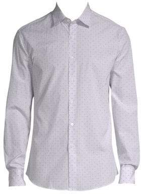 Salvatore Ferragamo Windowpane Check Button-Down Shirt