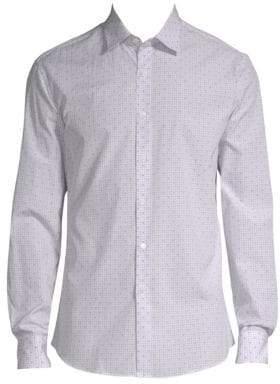 Salvatore Ferragamo Windowpane Check Button-Down Shirt
