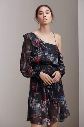 Keepsake PAPERTHIN MINI DRESS black botanic floral