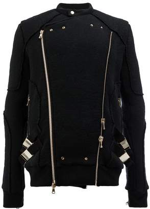 Balmain knitted biker jacket