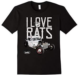 I Love Rats Hot Rod T-Shirt