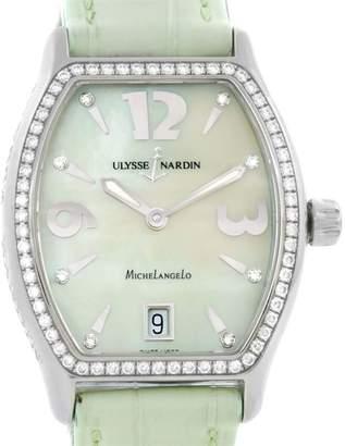 Ulysse Nardin Michelangelo 113-48 Stainless Steel Diamond 32mm Womens Watch
