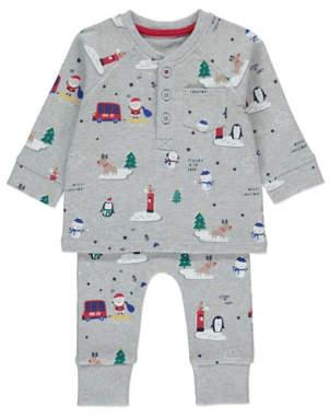 George Grey Christmas Print Pyjamas