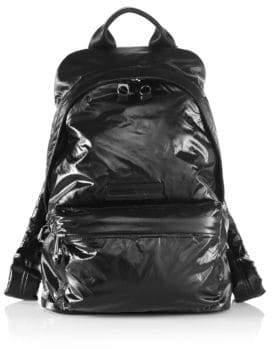 Alexander McQueen Wet Look Nylon Backpack