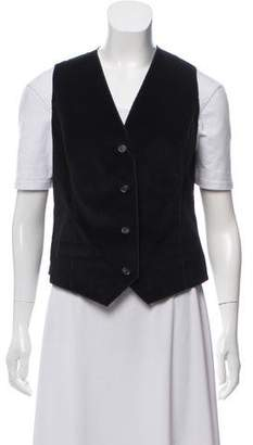 Dolce & Gabbana Velvet Button-Up Vest w/ Tags
