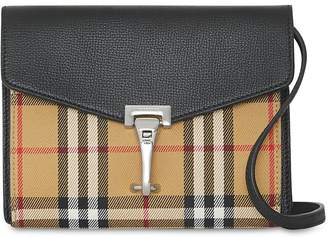 Burberry BABY MACKEN CHECKED LEATHER BAG