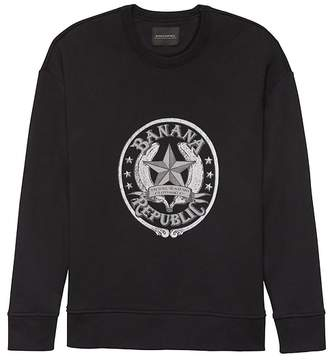 Banana Republic JAPAN ONLINE EXCLUSIVE French Terry Star Logo Sweatshirt