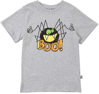 Stella McCartney Spider Print Cotton Jersey T-Shirt