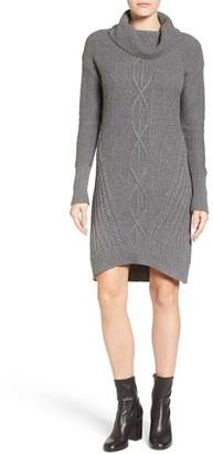 Petite Women's Caslon Cowl Neck Sweater Dress $79 thestylecure.com