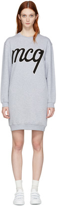 McQ Alexander McQueen Grey Logo Classic Dress $360 thestylecure.com