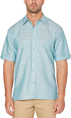 Cubavera Horizontal Tucks Cross Dye Shirt