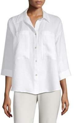 Eileen Fisher Linen Button-Front Shirt