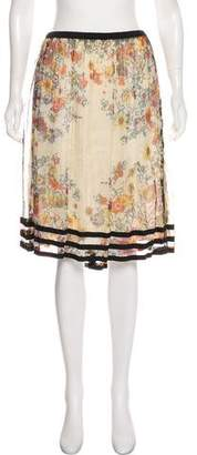 Jean Paul Gaultier Floral Semi-Sheer Skirt