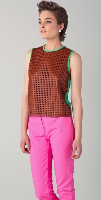 Raoul Perforated Leather Tank