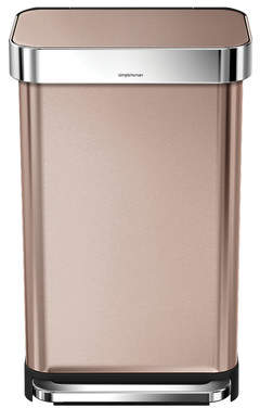 Simplehuman Cordia Stainless Steel 10.6 Gallon Step On Trash Can