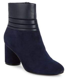 Karl Lagerfeld Paris Frieda Contrast Leather Boots