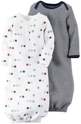 Carter's 2-pk. Sport Gowns - Baby Boys one size fits newborn