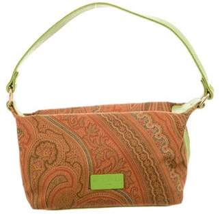Etro Printed Leather-Trimmed Handle Bag w/ Tags Brown Printed Leather-Trimmed Handle Bag w/ Tags