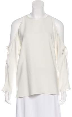 Theory Cold-Shoulder Long Sleeve Top