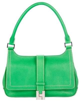 Lambertson Truex Pebbled Leather Flap Bag