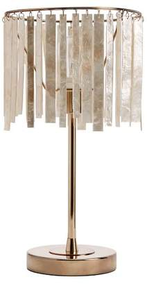 Pottery Barn Teen Capiz Strip Table Lamp, Pearl/Gold