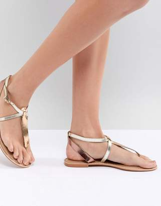 Asos DESIGN Forbes Leather Flat Sandals