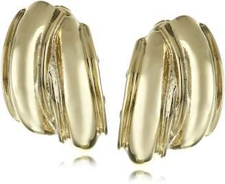 Anne Klein Tone Button Clip-on Earrings