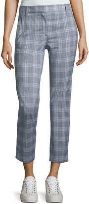 Theory Maple-Check 2 Straight-Leg Ankle Trousers