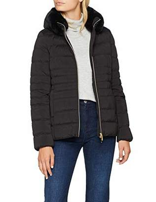Geox W ZOSMA Mid lenght down jacket with eco fur collar