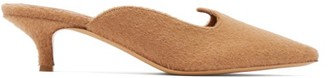 Giuliva Heritage Collection X Le Monde Beryl Camel Hair Kitten Heel Mules - Womens - Camel