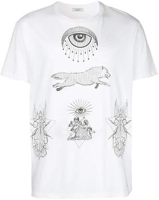 Valentino printed t-shirt white