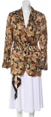 Dries Van Noten 2018 Floral Print Short Coat