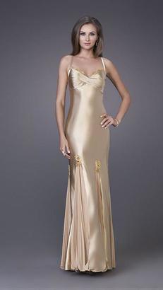 La Femme - Sweetheart Strappy Open Back Long Dress 12340 $158 thestylecure.com
