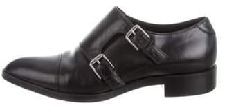 Gianvito Rossi Leather Buckle-Accented Loafers Black Leather Buckle-Accented Loafers