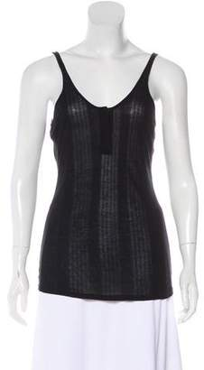 Alexander Wang Sleeveless Rib Knit Top