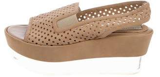 Stella McCartney Perforated Flatform Wedges