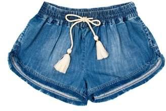 BOWIE X JAMES Frayed Denim Shorts