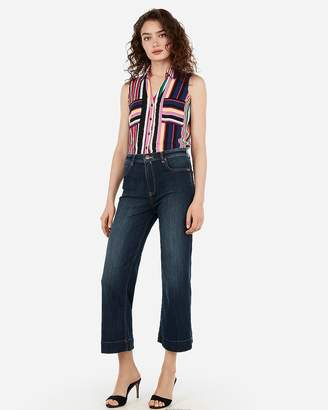 fef7b7ace2eae Express Slim Fit Striped Print Sleeveless Portofino Shirt